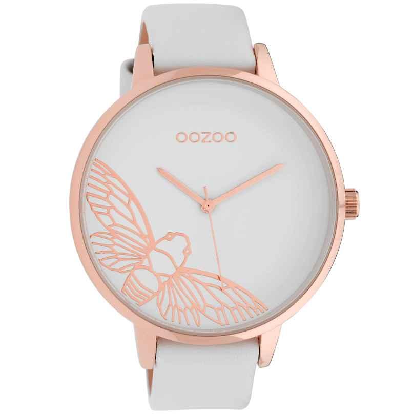 Oozoo C10075 Damenuhr Libelle Weiß 48 mm 8719929010961