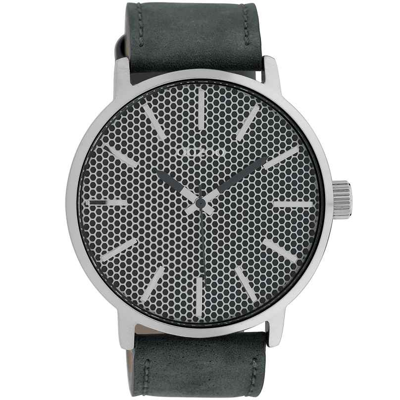 Oozoo C10038 Armbanduhr in Unisexgröße Grau 48 mm 8719929010596