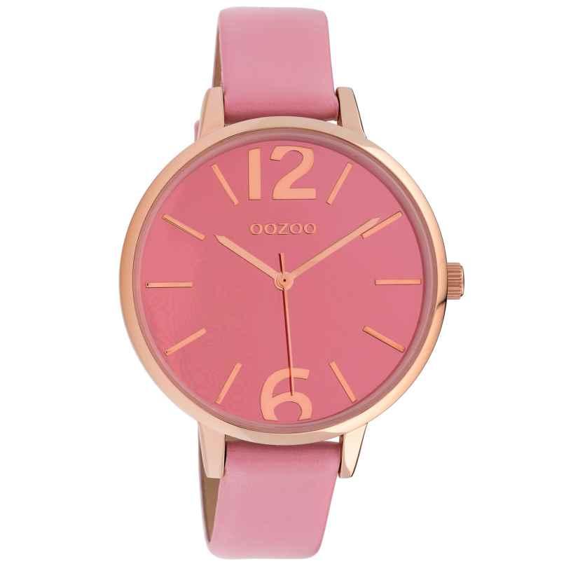 Oozoo C10153 Quarz Damenuhr Lederband Soft Pink 40 mm 8719929011746