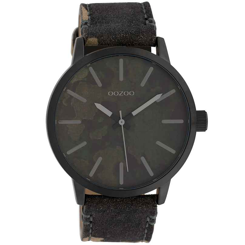 Oozoo C10004 Unisex Watch Camouflage Dark Green 45 mm 8719929010251