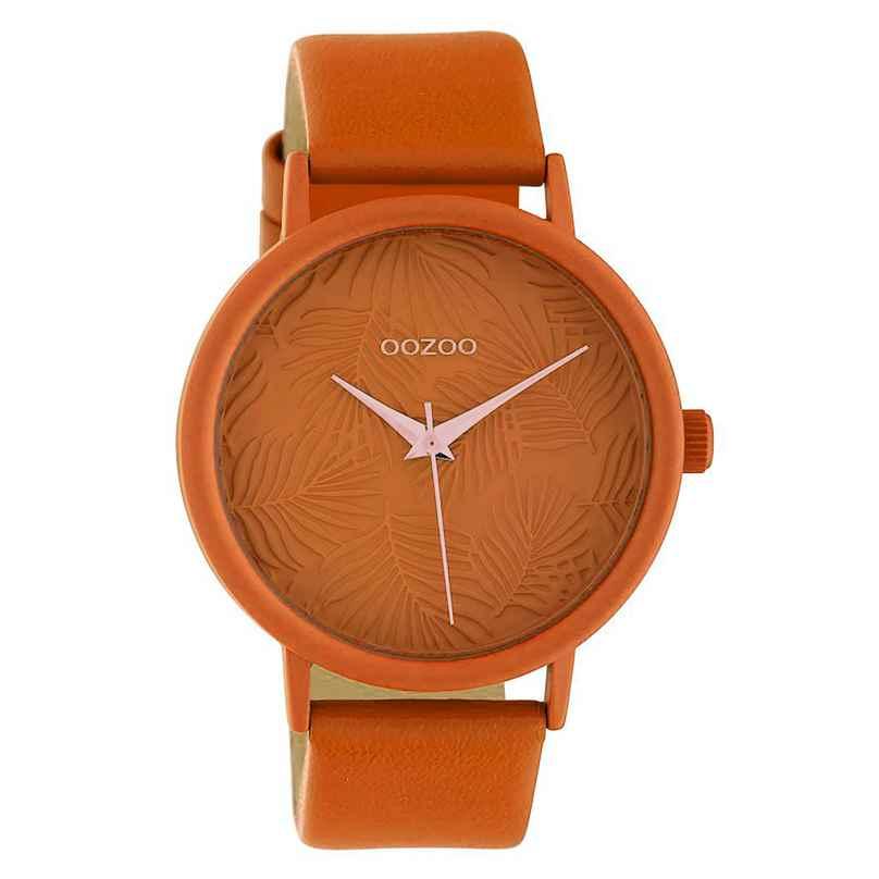 Oozoo C10165 Damenuhr mit Lederband Orange 42 mm 8719929011869