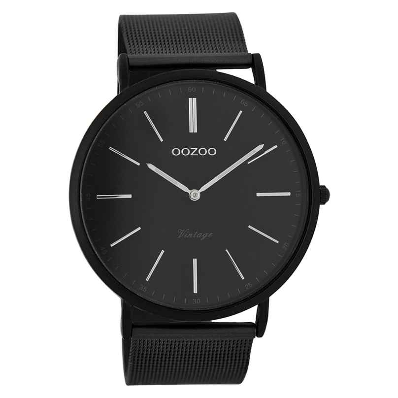 Oozoo C7383 Vintage Herren-Armbanduhr Schwarz 44 mm 9879012505602