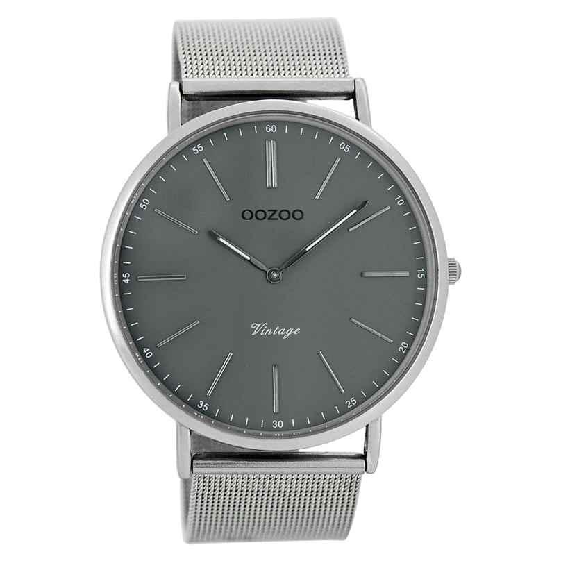 Oozoo C7382 Vintage Herrenuhr Grau/Silber 44 mm 9879012505596
