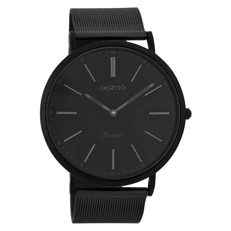 Oozoo C7384 Vintage Gents Watch Black 44 mm 9879012505619