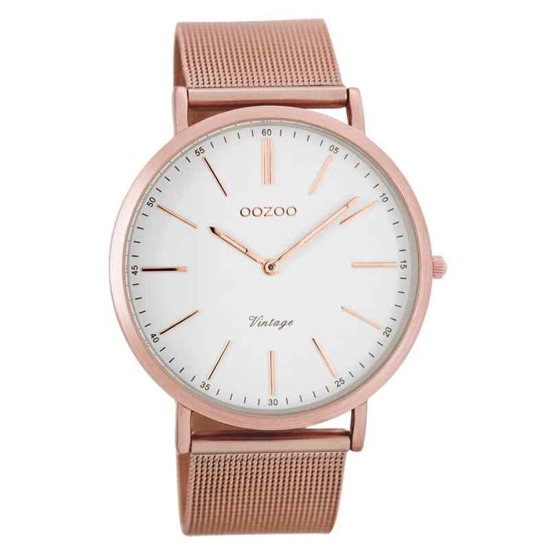 Oozoo C7390 Vintage Armbanduhr Weiß/Rosé 40 mm 9879012505671
