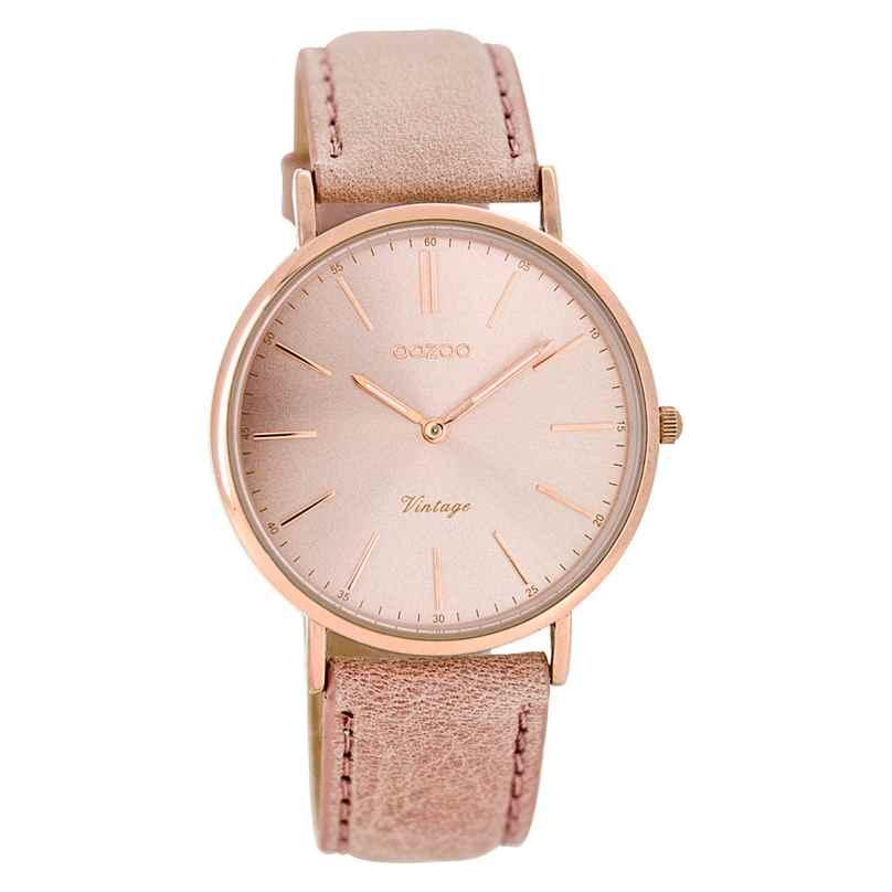 Oozoo C7372 Vintage Damen-Armbanduhr Altrosa 36 mm 9879012502786