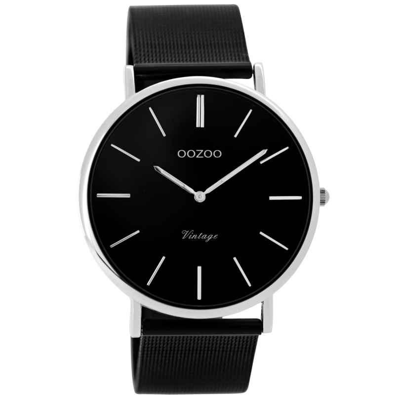 Oozoo C8865 Armbanduhr in Unisexgröße Vintage Schwarz 40 mm 9879012519968