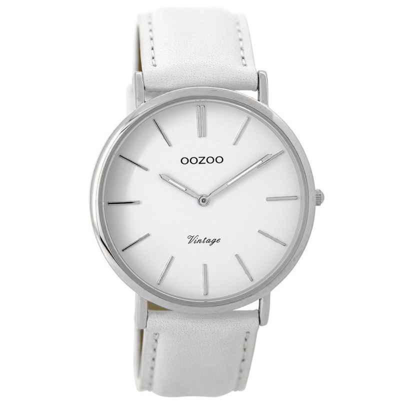 Oozoo C9311 Armbanduhr Vintage Weiß/Silber 40 mm 8719929001488
