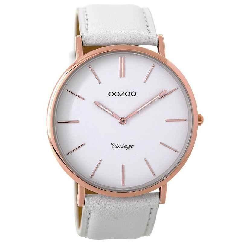 Oozoo C9314 Armbanduhr Vintage Weiß/Rosé 44 mm 8719929001518