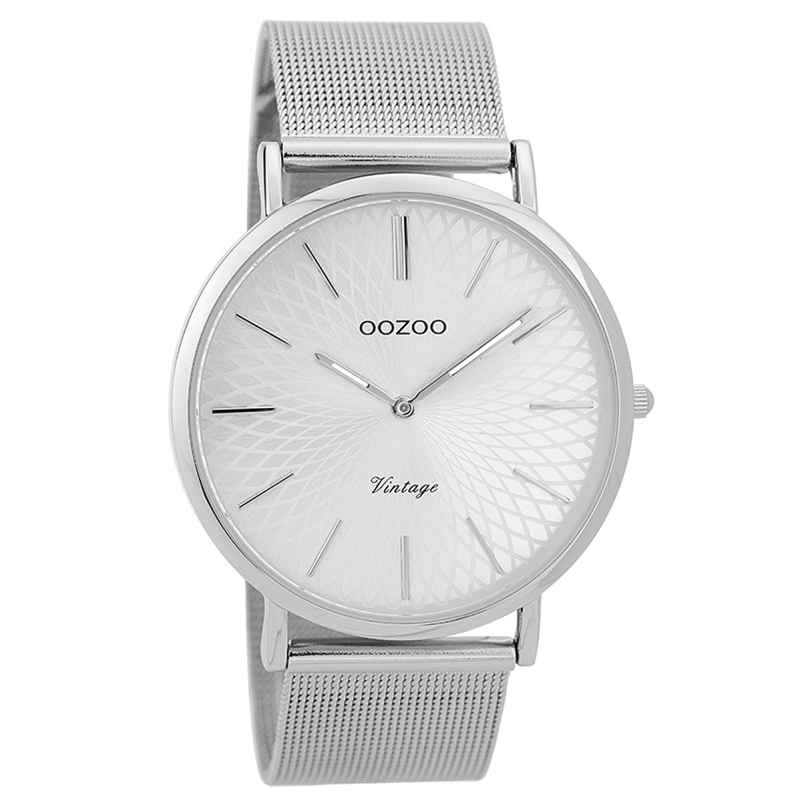 Oozoo C9340 Ladies' Wristwatch Vintage Silver-Coloured 40 mm 8719929001792