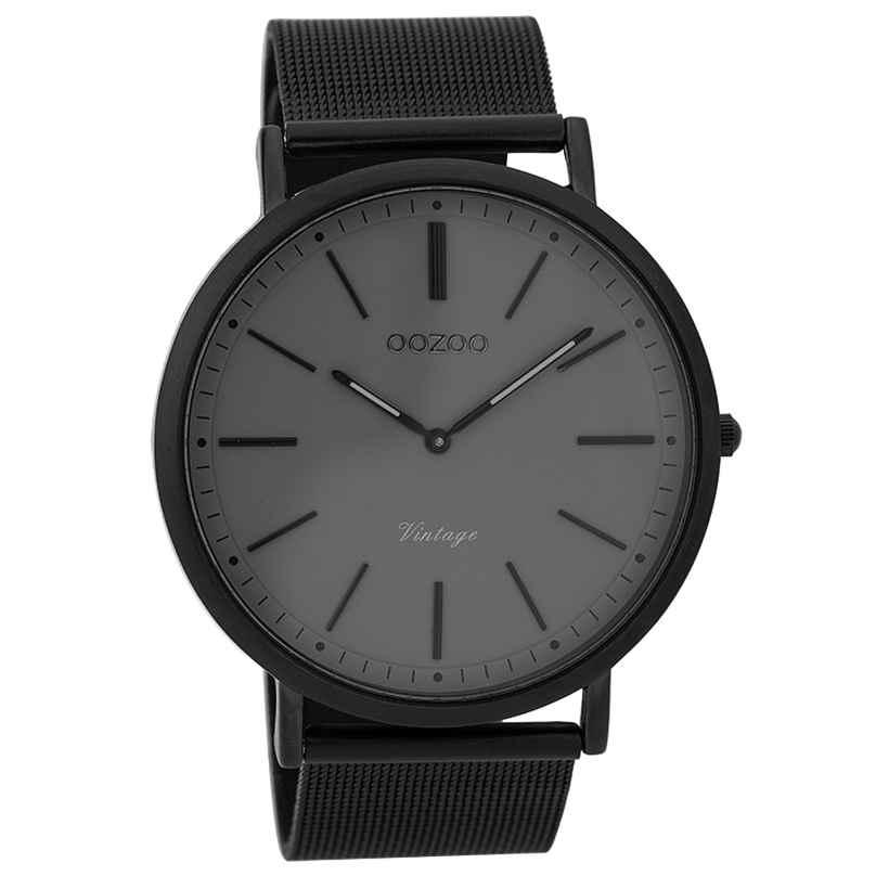 Oozoo C9351 Herren-Uhr Vintage Schwarz/Grau 44 mm 8719929001907