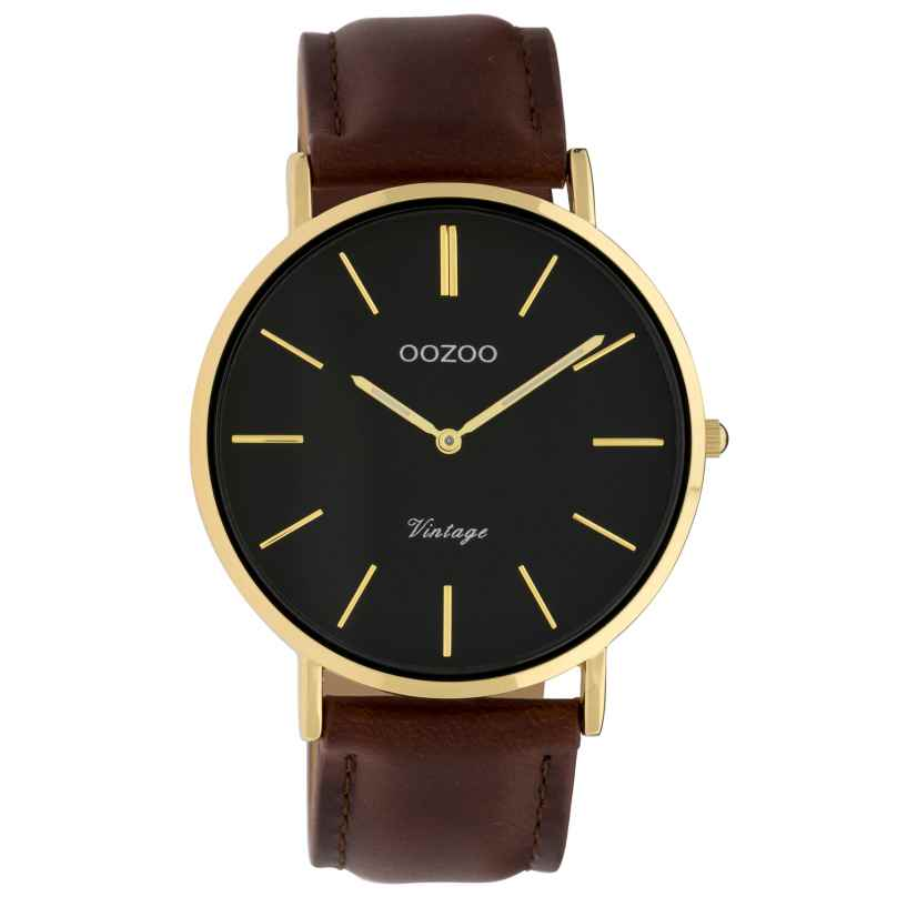 Oozoo C9833 Ladies' Watch Vintage Black/Dark Brown 40 mm 8719929008210