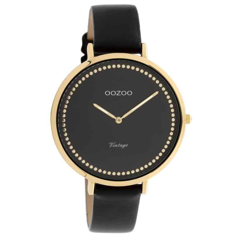 Oozoo C9854 Damenuhr Vintage Schwarz 40 mm 8719929008425