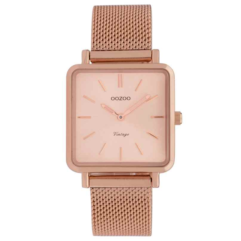 Oozoo C9847 Ladies' Watch Vintage Rose/Mesh Band 28 mm 8719929008357