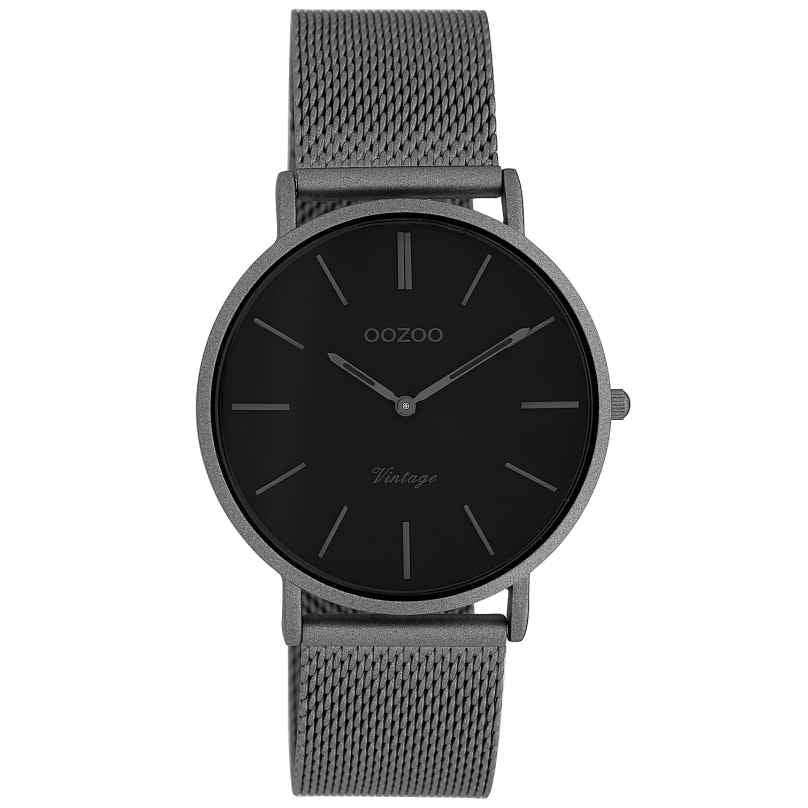 Oozoo C9930 Damen-Armbanduhr Vintage Titanfarben/Schwarz 36 mm 8719929009903