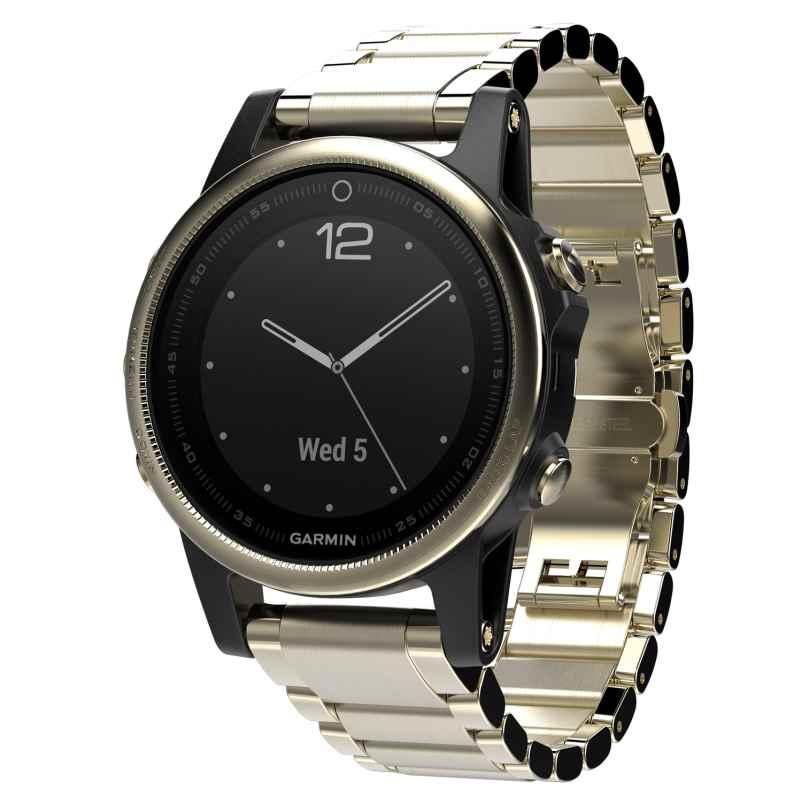 Garmin 010-01685-15 fenix 5S Saphir GPS Multisport Smartwatch Edelstahl 0753759176785