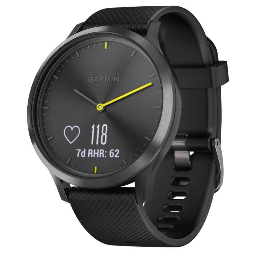 Garmin 010-01850-01 vivomove HR Sport Fitness-Tracker Smartwatch L Schwarz 0753759182373