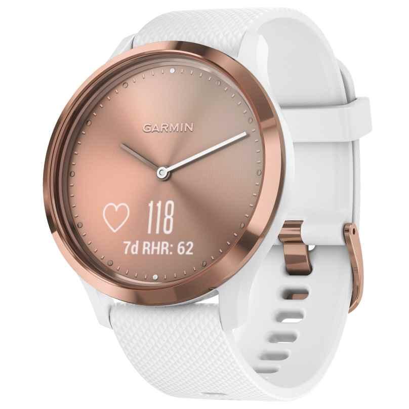Garmin 010-01850-02 vivomove HR Sport Damen-Smartwatch S/M Rosé/Weiß 0753759182380