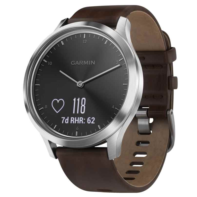 Garmin 010-01850-04 vivomove HR Premium Fitness-Tracker Smartwatch L Braun 0753759184667