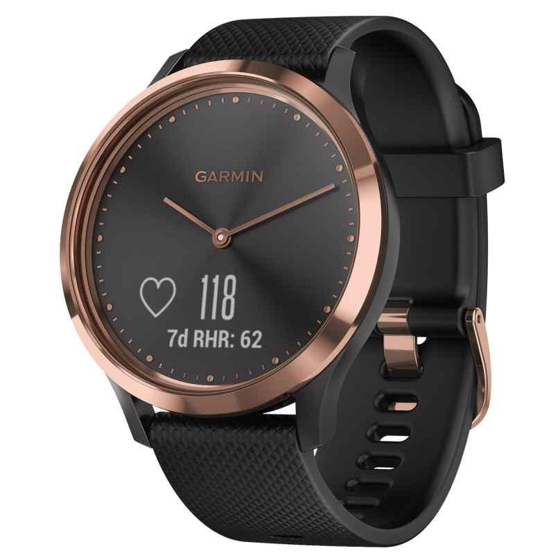 Garmin 010-01850-06 vivomove HR Sport Damen-Smartwatch S/M Rosé/Schwarz 0753759210823