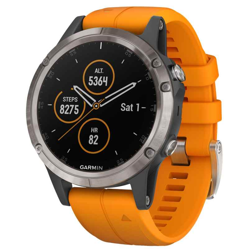 Garmin 010-01988-05 fenix 5 Plus Sapphire Titanium GPS Multisport Smartwatch 0753759197667