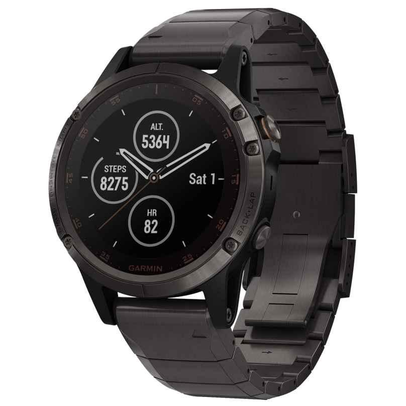 Garmin 010-01988-03 fenix 5 Plus Sapphire Titanium GPS Multisport Smartwatch 0753759197643
