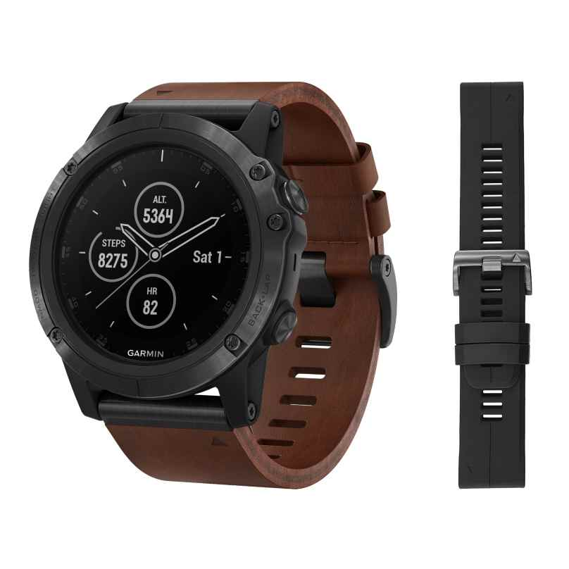 Garmin 010-01989-03 fenix 5X Plus Saphir GPS Multisport Smartwatch Schwarz 0753759197704