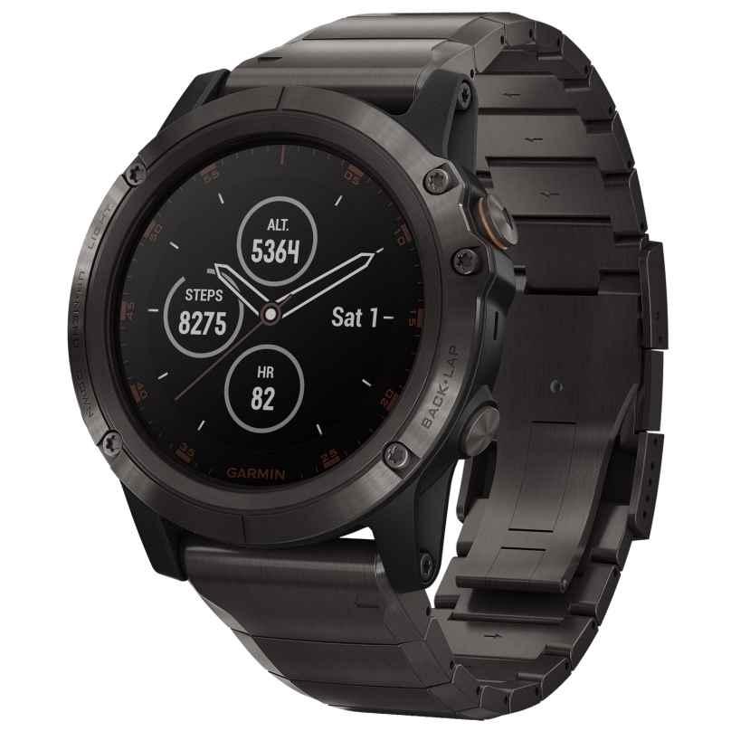 Garmin 010-01989-05 fenix 5X Plus Sapphire Titanium GPS Multisport Smartwatch 0753759197728