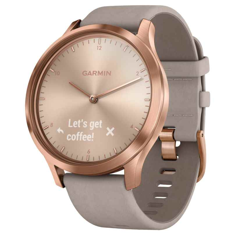 Garmin 010-01850-09 vivomove HR Premium Ladies Smartwatch Rose Gold/Grey 0753759215354