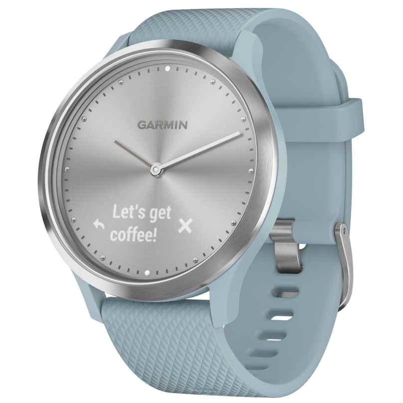 Garmin 010-01850-08 Damen-Smartwatch vivomove HR Sport Hellblau/Silber 0753759215347