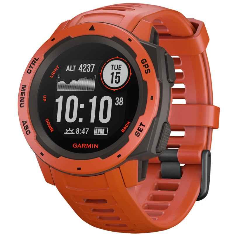 Garmin 010-02064-02 Outdoor-Smartwatch Instinct Hellrot/Schiefergrau 0753759214586
