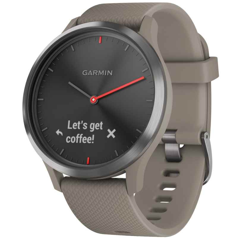 Garmin 010-01850-03 Smartwatch vivomove HR Sport Black / Sandstone 0753759182397