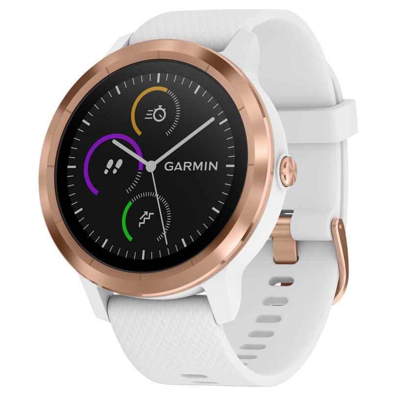 Garmin 010-01769-05 vivoactive 3 GPS-Multisport-Smartwatch Weiß/Rosé 0753759212698