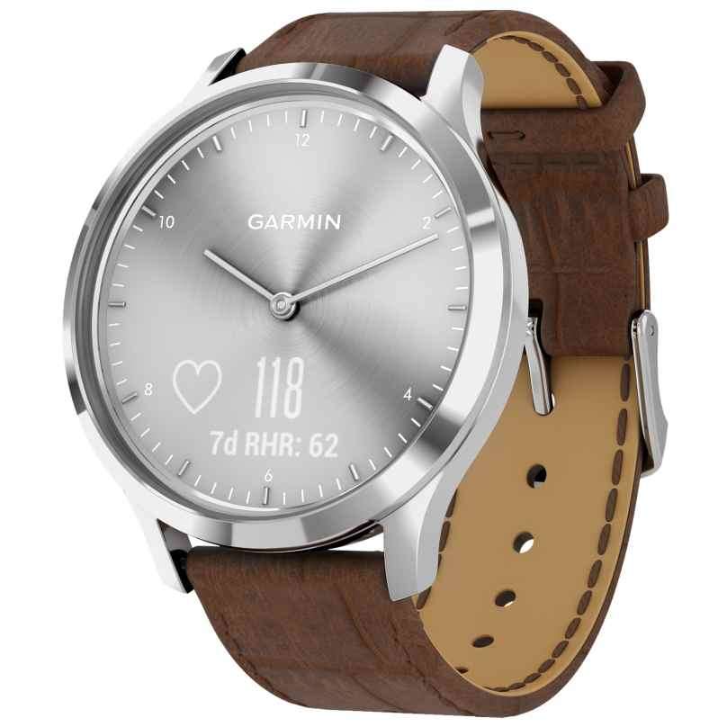 Garmin 010-01850-AD vivomove HR Premium Fitness Tracker Smartwatch Brown 0753759229030