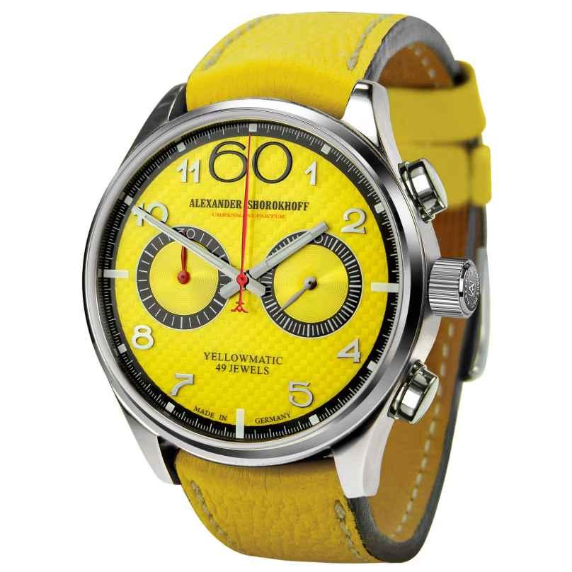 Alexander Shorokhoff AS.N.PT05-55 Avantgard Yellowmatic Herrenuhr 4260479160735