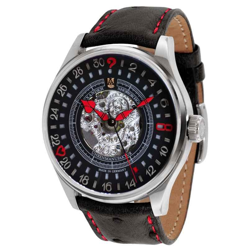 Alexander Shorokhoff AS.V3.02-R Herrenuhr mit Handaufzug Lucky 8 Limited Edition 4260479161091