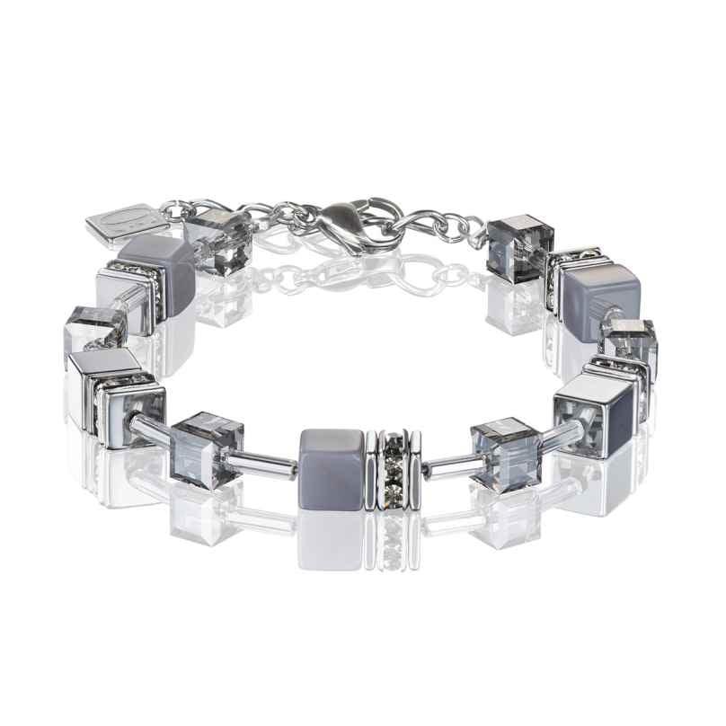 Coeur de Lion 4017/30-1220 Damen-Armband Achat/Hämatit Hellgrau 4250409699404