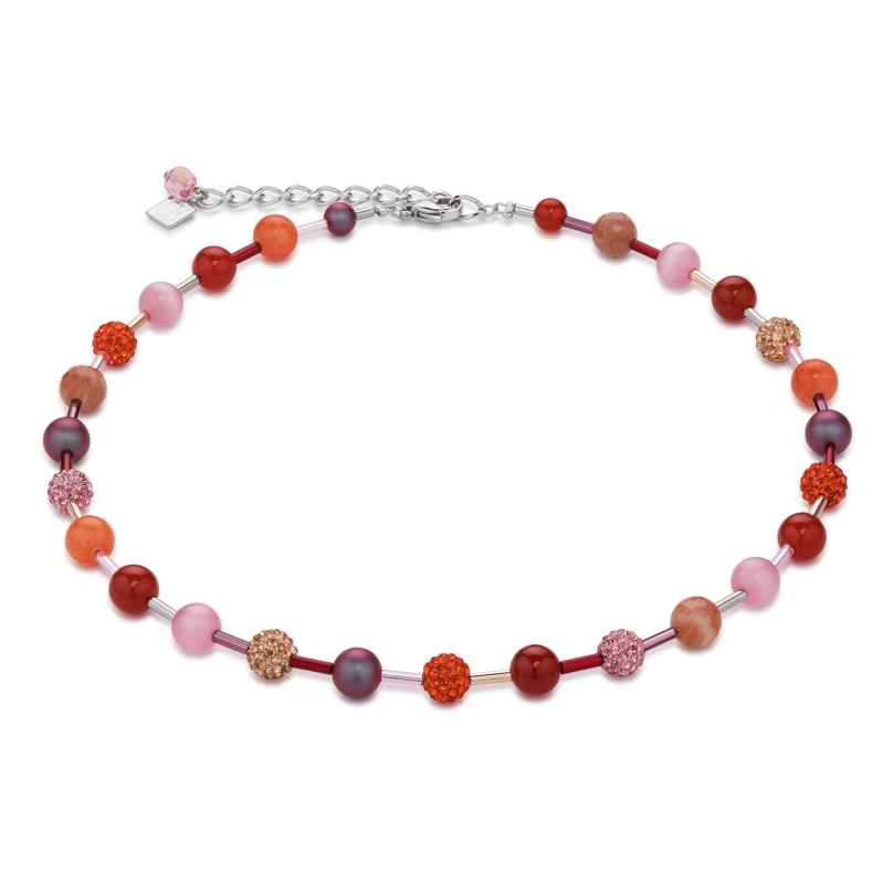 Coeur de Lion 4887/10-0219 Damen-Collier Orange-Rosa 4250409694799