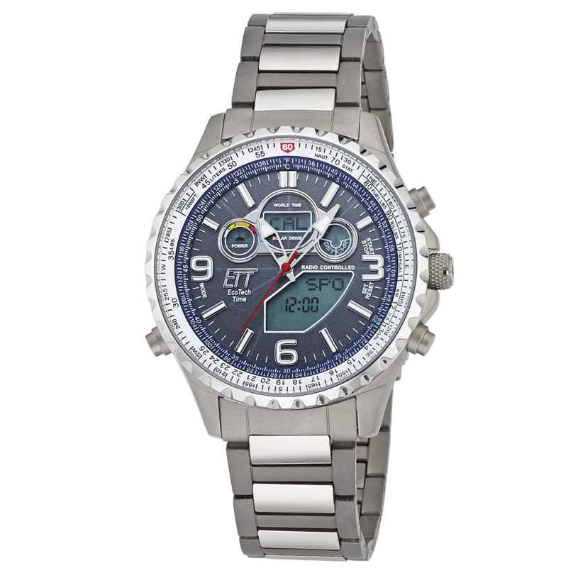 ETT Eco Tech Time EGS-11295-31M Solar Drive Funk-Herrenuhr 4260411152491