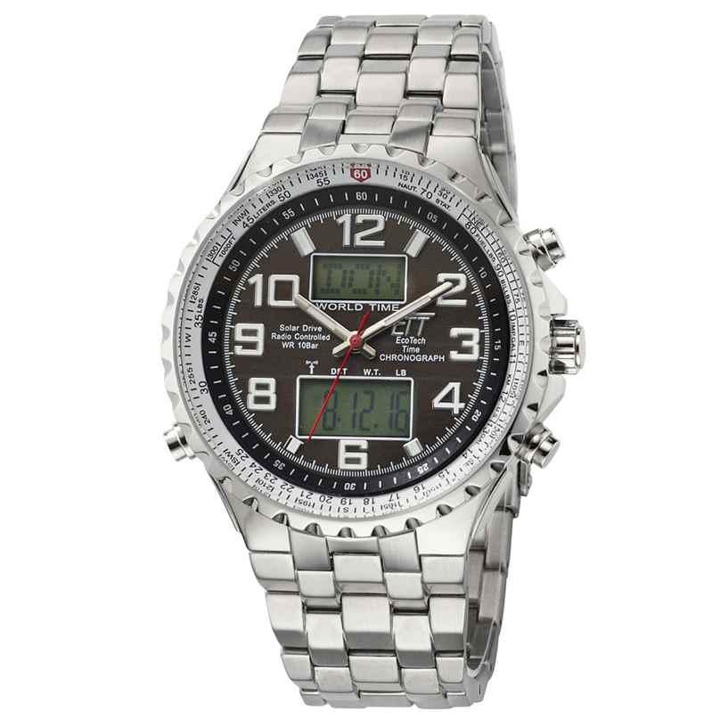 ETT Eco Tech Time EGS-11328-81M Solar Drive Herren-Funkuhr Professional 4260411159407