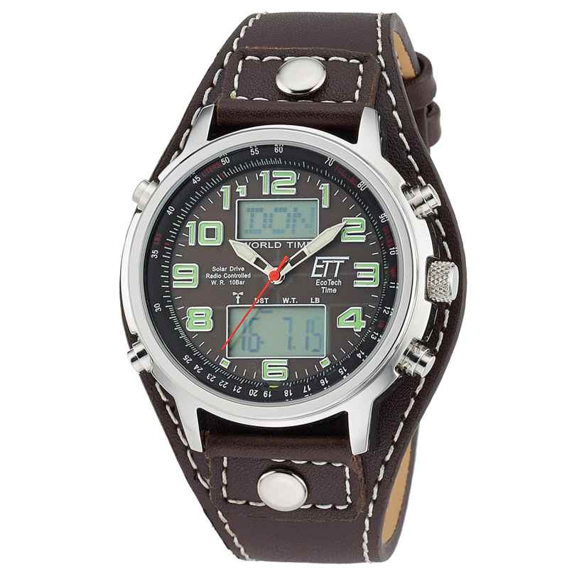 ETT Eco Tech Time EGS-11303-21L Solar Drive Funkuhr Chronograph Hunter II 4260411152774