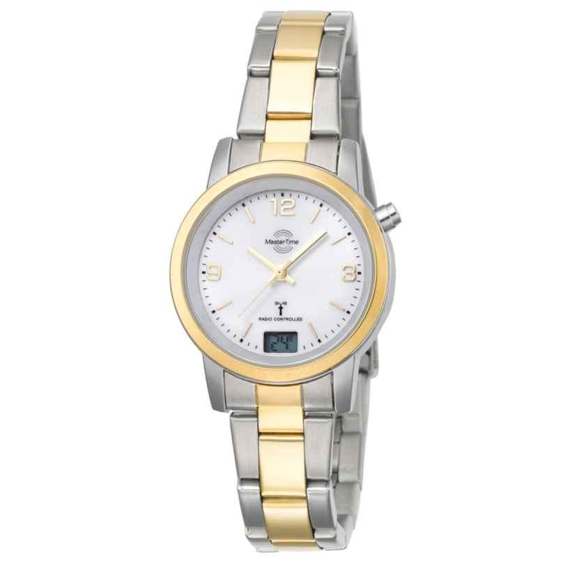 Master Time MTLA-10305-12M Damen-Funkuhr Basic Bicolor 4260411150114
