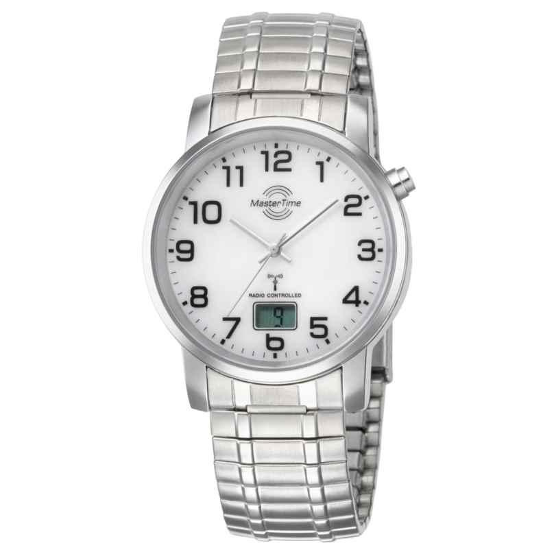 Master Time MTGA-10306-12M Herren-Funkuhr Basic mit Zugband 4260411150091