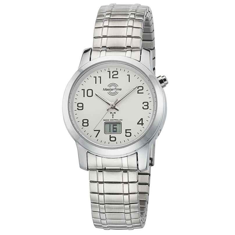 Master Time MTLA-10307-12M Damen-Funkuhr mit Zugband 4260091353997
