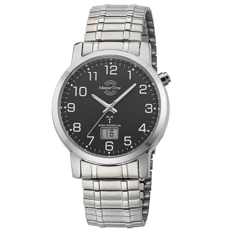 Master Time MTGA-10308-22M Radio-Controlled Mens Watch with Elastic Bracelet 4260091354000