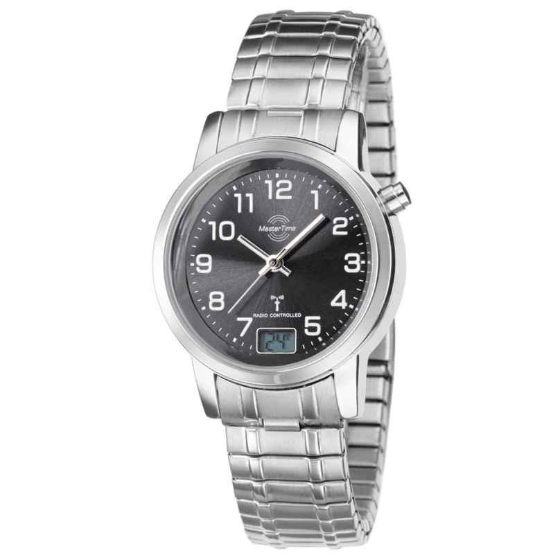 Master Time MTLA-10309-22M Damen-Funkuhr mit Zugband 4260411150046