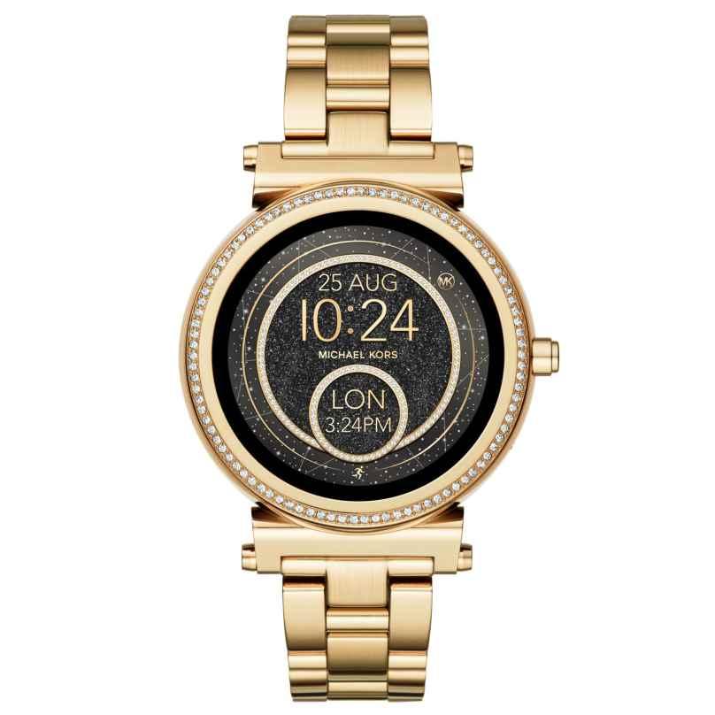 Michael Kors Access MKT5021 Damen-Smartwatch Sofie Pavé Goldfarben 4053858919167