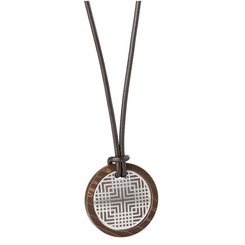 Ernstes Design K668.B.54 Herren Leder-Halskette mit Anhänger 4056038127789