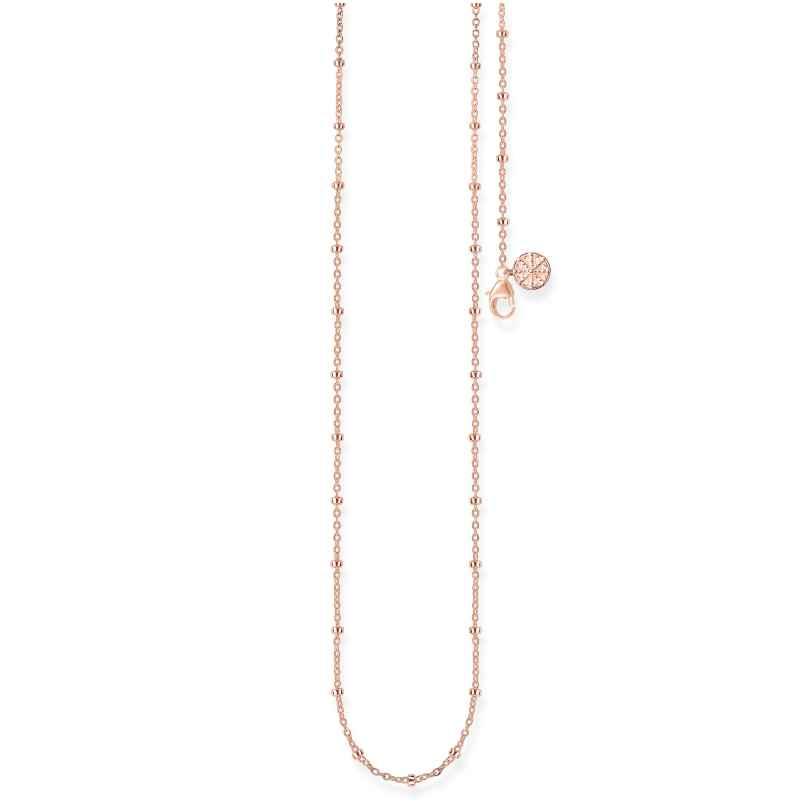 Thomas Sabo KK0004-415-40 Damen-Collier für Beads Karma Wheel Rosé 4051245315622