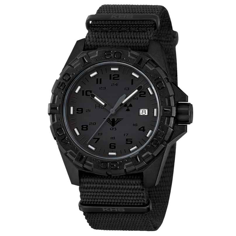 KHS REXT.NB Mens Watch Reaper XTAC with Nato Strap Black 4260446980908